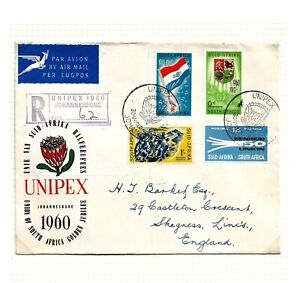 SOUTH AFRICA (A7-46)1950-60 POSTAL HISTORY GROUP OF 9 AIR-COVERS TO UK FINE  LOT
