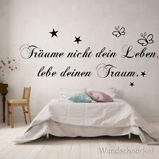 Wandtattoo Wohnzimmer Spruch Träume nicht dein Leben Schlafzimmer Dekoration Wan