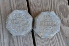 Antique Vintage Lead Ingots Five Fold ABARCO