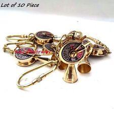 Lot of 10 Nautical Brass Telegraph Key Chain Vintage Ship Engine Room Telegraph