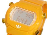 NEW ADIDAS CANDY YELLOW+GOLD DIGITAL POLYURETHANE WATCH-ADH6108