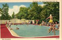 "Vintage Postcard   BRUNSWICK Georgia GA   ""Hotel Pool, Jekyll Island State Park"""