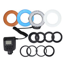 LED Macro Ring Flash Light for Nikon Canon Olympus DSLR Camera +8 Lens Adapter R
