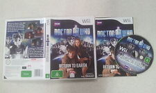 Doctor Who Return to Earth Nintendo Wii PAL Version