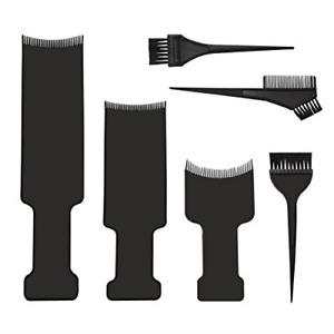 6pcs Balayage Board and Brush Kit, 3pcs Balayage Highlighting Board with Teeth
