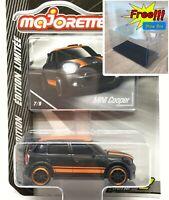 Majorette Mini cooper WRC Black / Orange 1/57 294F Free Show Box