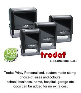 PERSONALISED BUSINESS STAMP SELF INKING BUSINESS NAME YOUR SIGNATURE LOGO FREE