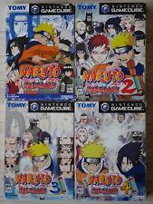 Used Nintendo GameCube Naruto Gekitou Ninja Taisen 1 2 3 4 Japan Import NGC Game