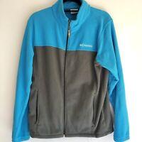 Women's COLUMBIA Full-Zip Fleece Jacket Size M Blue/grey Euc Fast Shipping
