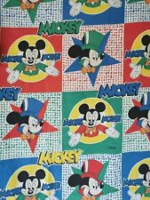 Vtg Disney Mickey Mouse Duvet Cover Cotton Bedding Rare Sheets Collectible