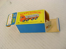 MATCHBOX LESNEY #10 PIPE TRUCK (EMPTY ORIGINAL BOX ONLY)