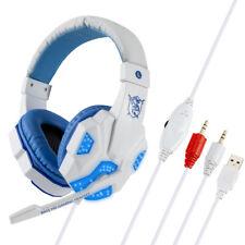 Auriculares Estéreo Auriculares para Juegos con Cable LED brillante Auriculares con micrófono para PC/PS4
