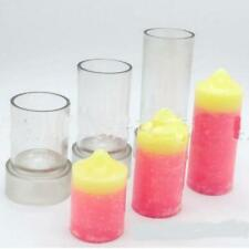 Plastic Clear Candles Wax Mold Tools Round Shaped for Candles DIY 8 * 4 cm