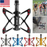 1 Pair Aluminum Alloy Mountain Road Bike Pedals Butterfly 3 Bearings Flat Pedal