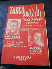 Partition Tango Melodia Tino Rossi Malar 1953 Music Sheet