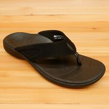 SOLE Flip Flops Orthotic Support Sandals Raven Black NEW Size Mens 8 Womens 10
