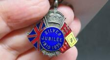 King George V Silver Jubilee 1910-35 Silver Plate & Enamel Commemorative Pendant