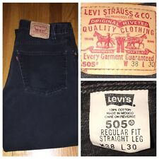 Vtg Levi's 505 Red Tab Regular Fit Black Jeans Men's Size 34 X 27