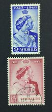 MOMEN: SEYCHELLES SG #152-153 1948 USED £48 LOT #5016