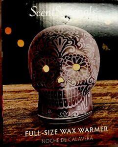 Day Of The Dead Skull (Halloween) Lamp Wax Warmer Sugar Skull NWB Free Wax Bar