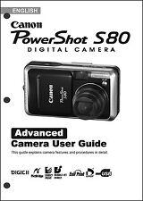 Canon Powershot S80 Digital Camera User Guide Instruction  Manual