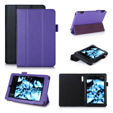 """Genuine Leather Smart Case Cover for Amazon Kindle Fire 7"""" Tablet 2015 Edition"""