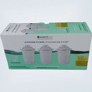 Santevia  Pitcher Filters 3 Pack New Sealed filters