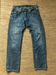 Lucky Brand Adult Mens 31 x 30 Distressed 221 Original Straight Jeans