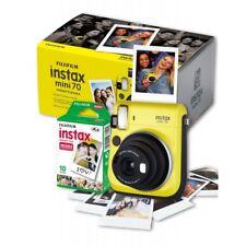 Fuji Instax Mini 70 Instant Camera Yellow inc 10 Shots