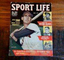 New listing 1948 SPORT LIFE MAGAZINE TED WILLIAMS BOSTON RED SOX + BASEBALL FOOTBALL NICE