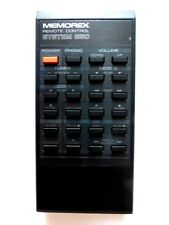 MEMOREX HIFI REMOTE CONTROL for SYSTEM 550