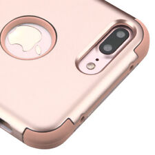 FOR IPHONE 8 PLUS/7 PLUS ROSE GOLD 3-PIECE SHOCKPROOF CASE TUFF RUGGED COVER