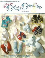 A Dozen Baby Booties Knitting Instruction Patterns Jeanette Crews Designs NEW
