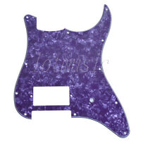1 Pc Electric Guitar Pickguard For Fender Strat One Humbucker 3 Ply Purple Pearl