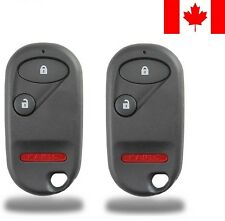 2x New Replacement Keyless Remote Control Key Fob For Honda OUCG8D-344H-A