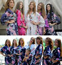 Women Robe Bridesmaid set of 9 gowns and bride wedding party robes satin Dress