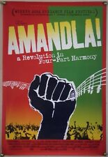 AMANDLA! DS ROLLED ORIG 1SH MOVIE POSTER SOUTH AFRICA APARTHEID DOCU (2002)