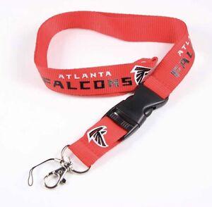 New Football Atlanta Falcons Lanyard ID Badge Holder Breakaway Clip Keychain