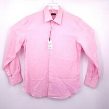 Sartoria Partenopea Mens Dress Shirt Cotton NWT 16.5 Us 42 Eu Pink Long Sleeve