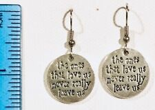 ONES THAT LOVE US NEVER REALLY LEAVE US  Earrings Surgical Hook HP Harry Potter