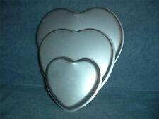 HEARTS 3 TIER Wilton Cake Pan 502-3053 1971 Valentines Anniversary Wedding Party