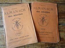 APICULTURE - 2X PETIT ALMANACH DES ABEILLES 1912 - 1914 RUCHE MIEL