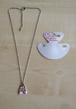 lovely Girl's Ballet Shoe Pendant Necklace party bag, gift,