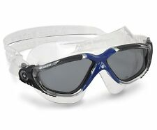 Aqua Sphere Vista Swimming Goggles - Swim Mask - Dark Lens - Blue Grey (172620)