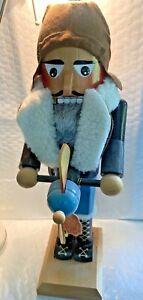 "STEINBACH Wooden Nutcracker Aviator 14.5 "" Handmade from Germany"
