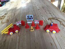 Plastica rossa AMBULANZA POMPIERI CONI TANICHE segni Viking Toys Svezia