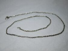 """John Hardy Men's Unisex Sterling Silver 22"""" - 24"""" Faceted Rolo Chain Necklace"""