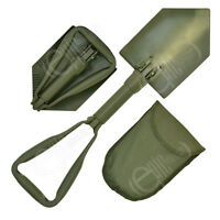 Olive Green NATO Type FOLDING SHOVEL - EXTREME Military Army Spade with Case New