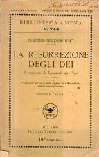 A30 La resurrezione degli Dei Vol. I Mereshkowsky Treves 1925