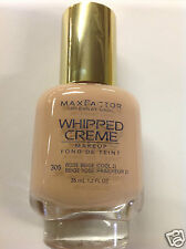Max Factor Whipped Creme Makeup #305 Rose Beige (Cool 2) New.